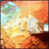 Акварельная краска и акриловая рельефная паста