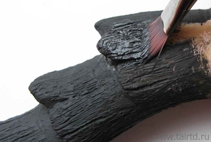 Имитация металла акриловыми красками. Схема покраски.
